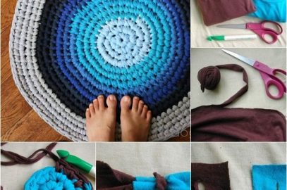Cum sa faci covoare rotunde multicolore din haine vechi